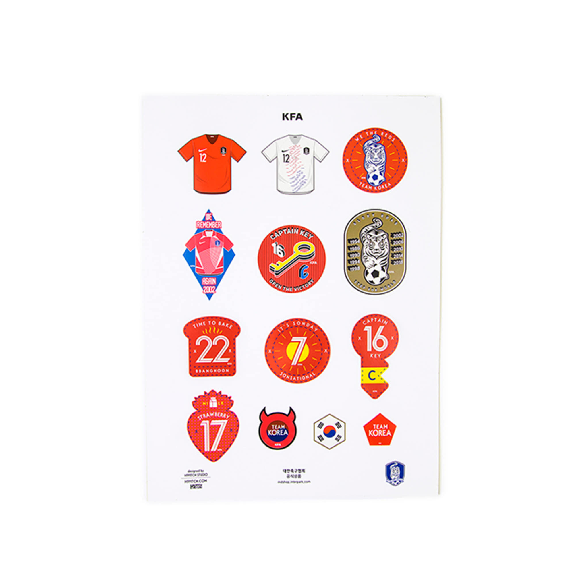 KFA STICKER SET 2018