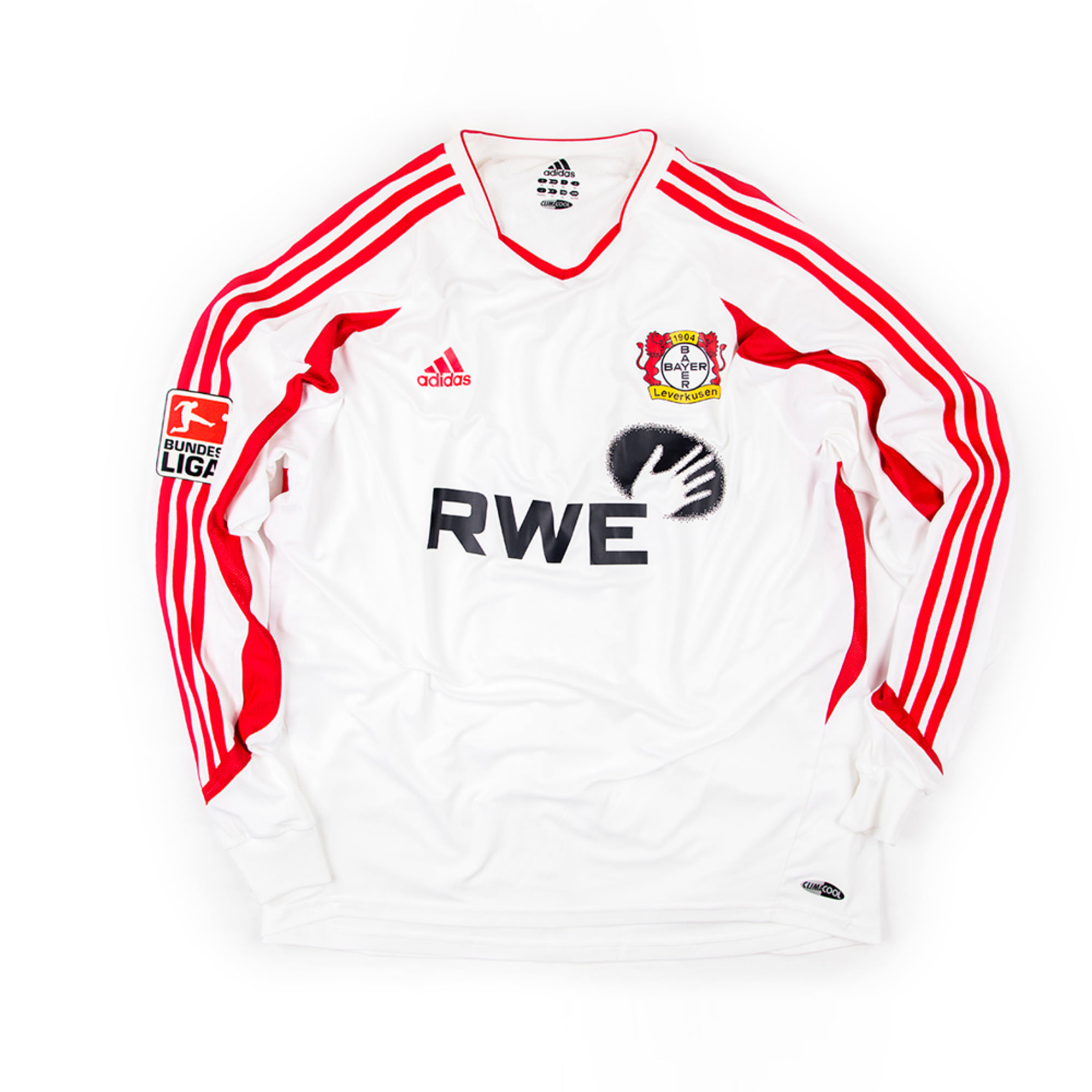 LEVERKUSEN 2003-04 AWAY #27 NEUVILLE L/S (Player Issued)