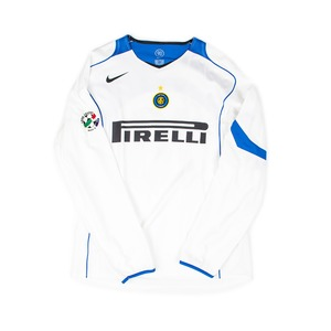INTER MILAN 2004-05 AWAY L/S #10 ADRIANO (PLAYER ISSUE)