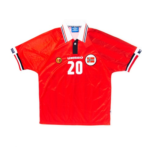 Norway 1998-1999 HOME S/S L #20 SOLSKJAER