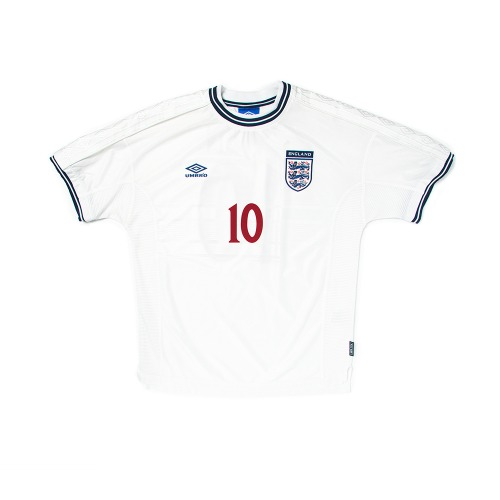 England 1999-2001 HOME S/S XL #10 OWEN