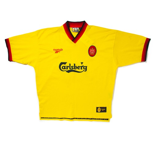 Liverpool 1997-1999 AWAY S/S XL #28 GERRARD